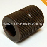 Custom CNC Machining Black Metal Knurled Bearing Crowned Roller Manufacturer