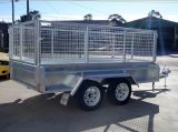 8X5 Galvanized Tandem Trailer with Cage