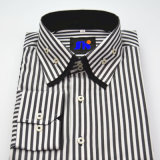 Men's Business Long Sleeve Double Collar Easy Care Stripe Shirt