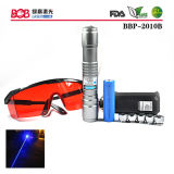 New 405nm Adjustable Focus Laser Pointer Plus Safety Glasses (BBP-2010B)