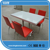 Hotel Furniture Pure White Stone Table with Chair