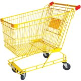New Design Fashional Yellow Color Supermarket Cart