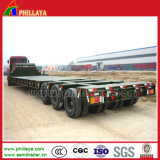120t Gooseneck Drop Side Heavy Duty Truck Semi Low-Loader Trailer