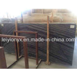 Chinese Polished Wood Grain Black Serpeggiante Marble for Marble Flooring