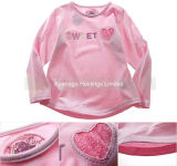 100% Cotton Infant Long Sleeve T Shirt for Girls