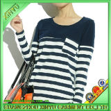 2014 Autumn Trend with Women Casual Stripe Tee (customize)