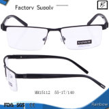 Half Optic Metal Frame Eyewear for Middle Aged Man (mm15112)