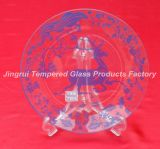 Clear Glass Plate. Tempered Glass Plate for Decoration