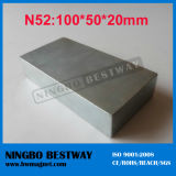 N52 Strongest Large Sintered NdFeB Block Magnet 100X50X20mm