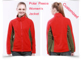 100% Polyester Leisure Outdoor Fleece Jacket, His and Her Anti-Pilling Fleece Jacket / Sports Wear in Red Colour