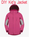 DIY Promotion Outdoor Good Quality Garment, Children's Jacket, Windproof and Waterproof Breathable Ski Mountaineering Sport Wears in Pink Colour