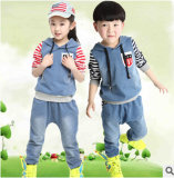 2014 Good Quality Jeans Children Tracksuits Sport Wears