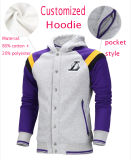 Men's Sports Leisure Fleece Pullover Hoodie, Men's Jacket, Colour Matching Sports Wear, Leisure Basketball Clothing