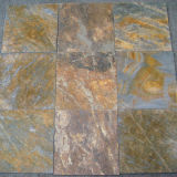 Rusty Slate Flooring Tiles with Honed Finishing