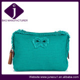 Hot Selling Linen Tassle Cosmetic Bag