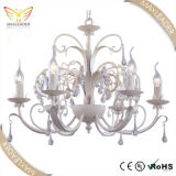 glass antique candle pink metal chandelier