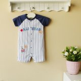 Mom and Bab, 2013 Fashion Baby Boy's Romper, 100%Cotton Baby Bodysuit (130703)