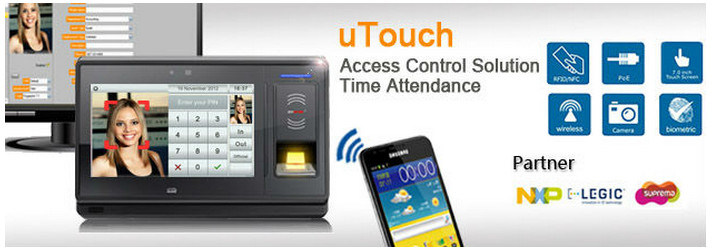 7'' Touch Screen RFID & Nfc Suprema Biometric Fingerprint Access